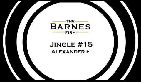 The barnes firm jingle contest top 20 - jingle #15 Alexander F